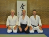 Jeff and Jeffrey with Big Mike Sensei following their 4th dan gradings